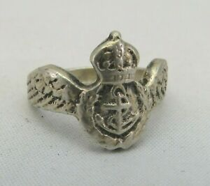 Vintage Sterling Silver Royal Navy Sweetheart Ring, Marked .925