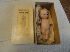 Old Bisque Jointed Arms Hand Painted Kewpie - Orig Box & Label by Shackman #3632