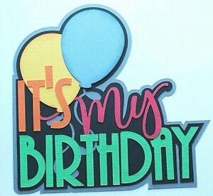 BIRTHDAY Title Paper Piecing Scrapbooking Die cut Premade scrap Happy Party
