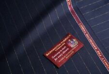 22 Carat Gold Super 160's Navy With Gold Pin Stripe 3.5 Meters Suiting Fabric