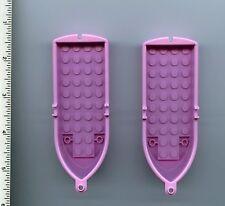 Disney Princess LEGO x 2 Bright Pink Boat, 14 x 5 x 2 with Oarlocks NEW Ariel