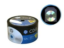 50-Pack (50-PK x 1) HP 52X Logo Blank CD-R Disc + 50 Clear Plastic Sleeves