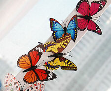 24 Pack 3D Colorful Artificial Butterflies Home Decorations with Magnet 7CM