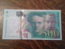 billet neuf cinq cent francs pierre et marie curie 1994