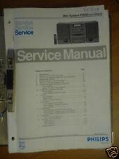 Service Manual for Philips FW 26 Hi-Fi System, Original