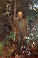 Art Oil painting Sargent - Frederick Law Olmsted in forest landscape canvas