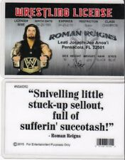 WF Wrestling License ROMAN REIGNS wwf Drivers License FAKE ID driver's card wcw
