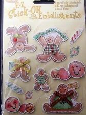 *GINGERBREAD & CANDIES* Royal & Langnickel 3D Christmas Sticker Embellishments