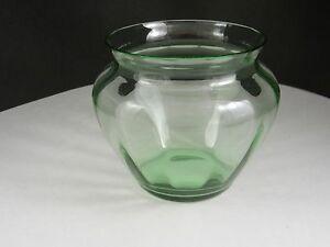 "Fostoria Crystal Vase With Optic #4103 Green 5 "" T ca 1927-1940"