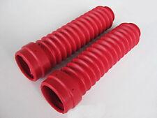 Fork Boot Rubber Yamaha DT100 DT125 DT175 DT250 Set Red Genuine Parts Japan Mint