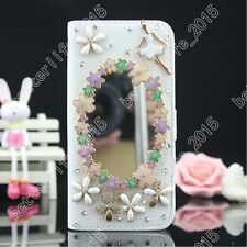 New 3D Diamond Crystal Bling Wallet Case Leather Flip Cover for iPhone Sumsung