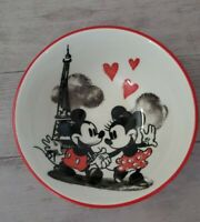 NEW (4) Red Disney Mickey & Minnie Mouse Love Heart Paris Eiffel Tower Bowls