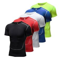 Breathable Men Stretch Quick-drying T-shirt Tights Sports Fitness Jerseys Tops