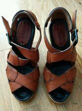 Chloe Tan Leather Sandals 37 UK4