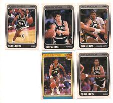 1988-89 Fleer San Antonio Spurs Basketball Team Set (5 Different)