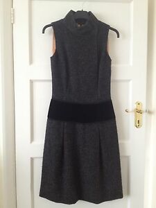 DOLCE & GABBANA £1,850 Women's Grey Herringbone Tweed Dress - UK 12 IT 40
