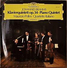 BRAHMS: Piano Quintet-M1980LP GERMAN IMP MAURIZIO POLLINI/QUARTETTO ITALIANO