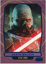 STAR WARS GALACTIC FILES SERIES 1 BLUE PARALLEL #194 DARTH MALGUS 003/350