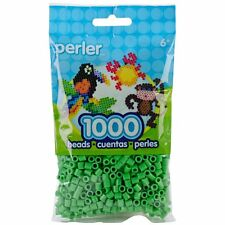 Bulk Buy: 5 x 1,000 Perler Bright Green Color Iron On Fuse Beads: 80-19080