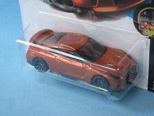 HotWheels 2017 Nissan GT-R (R35) Bronze Body in BP 70mm Toy Model Car USA Issue