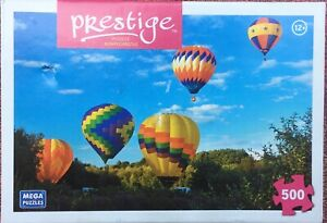 "Hot Air Balloon 500-Piece Prestige Puzzle 13.25"" x 9"" (MEGA Brands, 2013) SEALED"