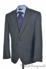 HUGO BOSS SELECTION Recent Gray Striped 100% Wool Jacket Pants SUIT Mens - 40 S