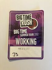 Big Time Rush Big Time Summer Tour 2012 Concert Working Pass 8/21/12