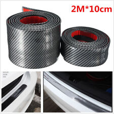 2M Carbon Fiber Color Car Door Sill Scuff Welcome Pedal Side Body Protect Decal