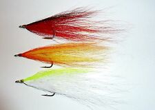 Hollow Fly & Bucktail Deceivers size 1/0 Bass/Pike/Pollock. Approx length 100mm
