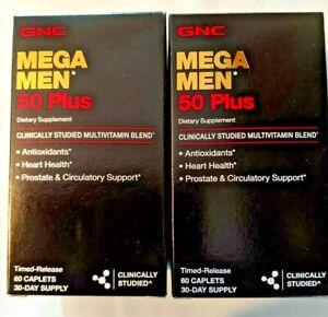 GNC Mega Men 50 Plus 120 Cap Antioxidants Heart Health Prostate Free Shipping.