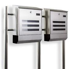 Postkasten Edelstahl Design Doppelstandbriefkasten Zeitungfach Briefkastenanlage
