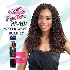 "Freetress Premium Synthetic Hair Braid Crochet  - WATER WAVE BULK 12"""