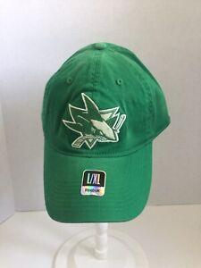 San Jose Sharks NHL Green St. Patrick's Irish Fitted Hat Reebok Fitted L/XL