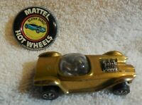 1968 ORIGINAL MATTEL HOT WHEELS / REDLINE USA BEATNICK BANDIT / GOLD / + BUTTON