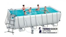 PISCINA POWER STEEL CON SCALA E POMPA CM.488X244X122H BESTWAY 56670