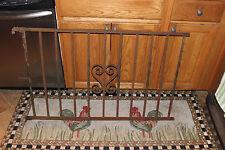 Vintage Wrought Cast Iron Architectural Garden Yard Art Fence Railing