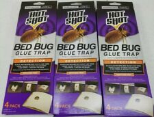Lot of 3 Hot Shot Bed Bug Glue Trap 4 Packs