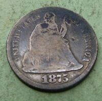 1875 Seated Liberty  Bust Dime  #BD75  Coin