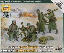 Zvezda 1/72 Figures German 81mm Mortar with Crew Winter 1941 -1945 Z6209