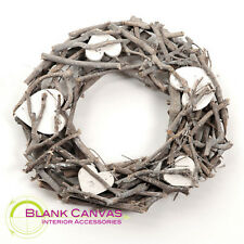 Country French Shabby Chic Round Wreath Twigs and Hearts - NEW