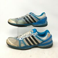 Adidas Running Shoes Sneakers Low Top Lace Up Mesh F32388 White Blue Mens 11