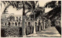 Approach to Washington Hotel, Cristobal, Canal Zone, Early Real Photo Postcard