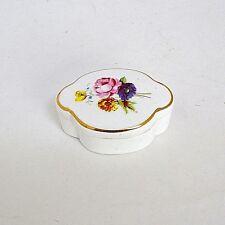 Royal Adderley Porcelain Trinket Ring Box Roses & Flowers Mold 72 England