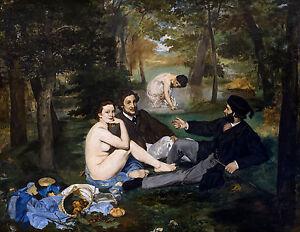 Édouard Manet - Luncheon on the Grass, 1862 Museum Art Poster, Canvas Print