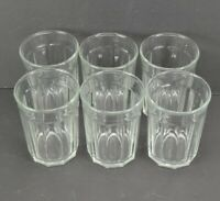 """Luminarc Working Glass Set of 6 Clear Tumbler 5.25"""" 10 Panel Drinking Glasses"""
