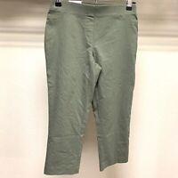 Womens Style & co Capri Pants Pull On Stretch Comfort Waist Mid Rise Sz XS Green