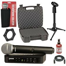 Shure BLX24/PG58 Handheld Wireless Microphone System + Cable + Case