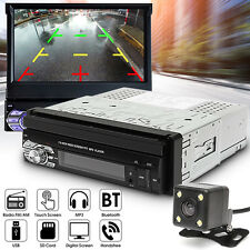 7'' HD Touch Screen 1 Din MP3 MP5 FM Music USB Bluetooth Video Player + Camera