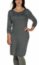 SHEEGO Strickkleid Long-Pullover Größen 40-42-44-46 dunkelgrau Neu 113949