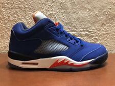 Nike Air Jordan 5 V Retro Low Knicks Cavs 819171 417 Royal Blue Orange size 9